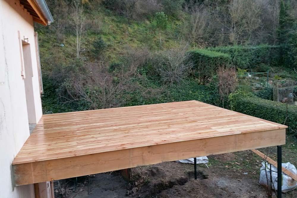 Fantastic Terrasse suspendue en bois Bédarieux, une réalisation Ethique  WS99