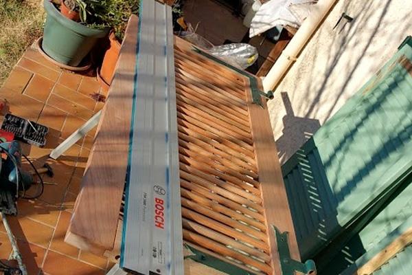 Pose volets en bois villeveyrac une r alisation ethique for Garage solidaire montpellier