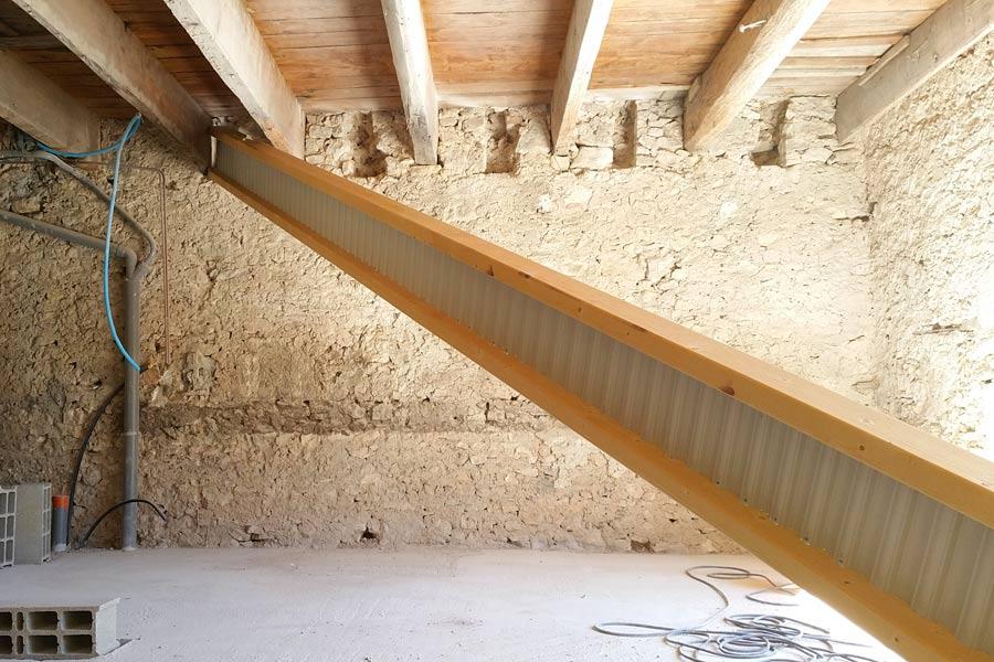 renforcement de plancher saussines une r alisation ethique habitat h rault. Black Bedroom Furniture Sets. Home Design Ideas