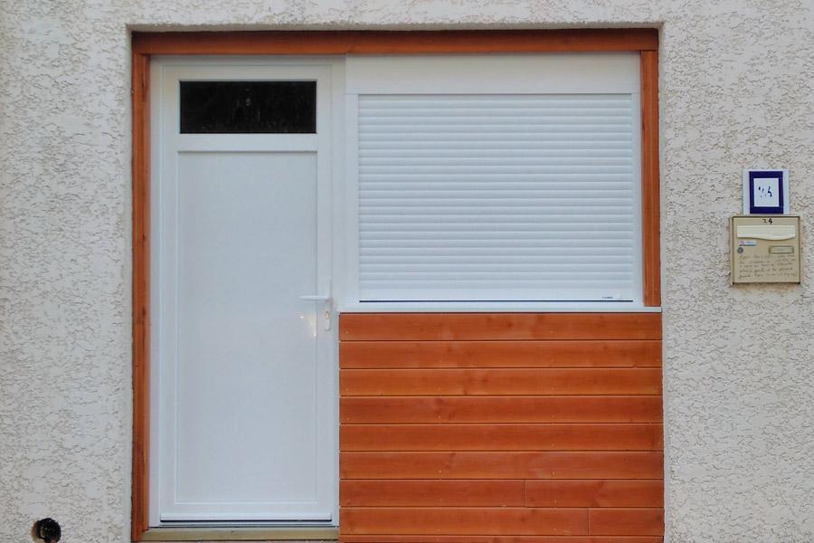 installation d 39 une porte d 39 entr e alu ral 7016 montpellier une r alisation ethique habitat h rault. Black Bedroom Furniture Sets. Home Design Ideas