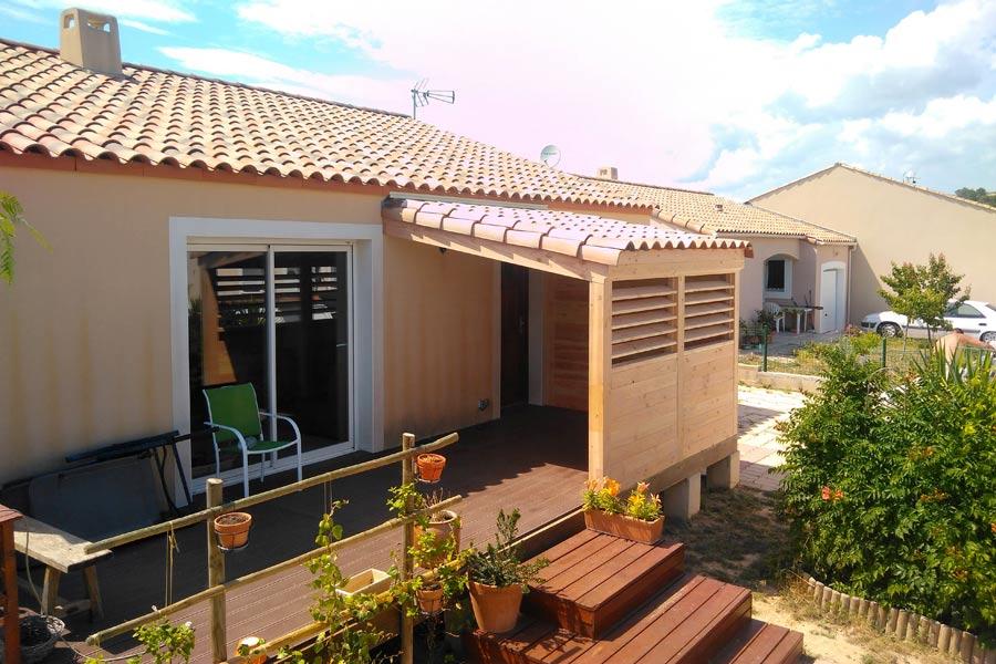 Extension bois h rault une r alisation ethique habitat for Extension maison herault